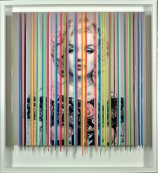 Icon Glamour II by Srinjoy - Mixed Media sized 36x36 inches. Available from Whitewall Galleries